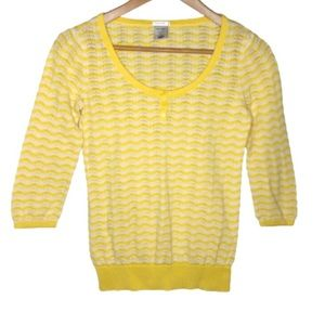 Old Navy | Womens Sweater Yellow Stripe Size S